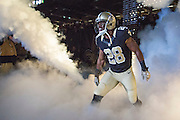NEW ORLEANS, LA - NOVEMBER 8:  C.J. Spiller #28 of the New Orleans Saints runs onto the field before a game against the Tennessee Titans at Mercedes-Benz Superdome on November 8, 2015 in New Orleans, Louisiana.  The Titans defeated the Saints in overtime 34-28.  (Photo by Wesley Hitt/Getty Images) *** Local Caption *** C.J. Spiller