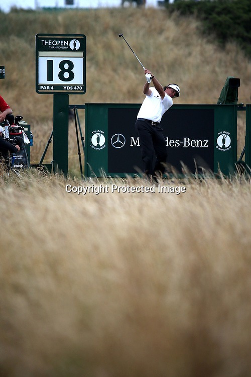 Phil Mickelson (USA),<br /> JULY 21, 2013 - Golf :<br /> Phil Mickelson of United States tees off on 18th hole during the final round of the 142nd British Open Championship at Muirfield in Gullane, East Lothian, Scotland. (Photo by Koji Aoki/AFLO SPORT) [0008]