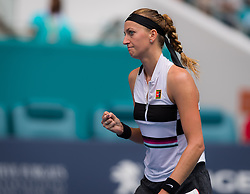 March 25, 2019 - Miami, FLORIDA, USA - Petra Kvitova of the Czech Republic in action during her fourth-round match at the 2019 Miami Open WTA Premier Mandatory tennis tournament (Credit Image: © AFP7 via ZUMA Wire)