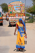 Indian woman at Rasulpura in Sawai Madhopur, Rajasthan, Northern India