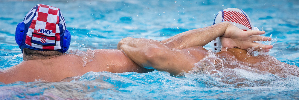 10 DOBUD Niksa CRO<br /> 4 FIGLIOLI Pietro ITA<br /> 1 PAVIC Josip (C) (GK) CRO<br /> Italy (White) Vs Croatia (Blue) Men<br /> LEN European Water Polo Championships 2014 - July 14-27<br /> Alfred Hajos -Tamas Szechy Swimming Complex<br /> Margitsziget - Margaret Island<br /> Day10 - July 23<br /> Photo Giorgio Scala/Inside/Deepbluemedia
