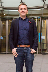London, October 29 2017. British columnist, author, commentator and political activist Owen Jones at the BBC in London after appearing on the Andrew Marr Show. © Paul Davey