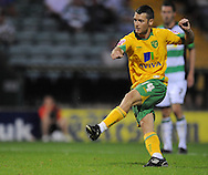 Yeovil - Tuesday, August 11th, 2009: Wes Hoolahan of Norwich City scores the opening goal during the Carling Cup 1st Round match at Yeovil. (Pic by Alex Broadway/Focus Images)