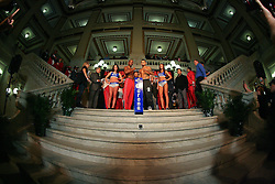 """Feb 23; St. Louis, MO, USA; HBO Boxing After Dark weigh-in for the February 25, 2012 fight card """"Arch Enemies""""."""