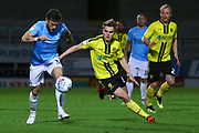 Burton Albion Midfielder Jake Hesketh (8) goes past Southend United's Ben Coker (3) during the EFL Sky Bet League 1 match between Burton Albion and Southend United at the Pirelli Stadium, Burton upon Trent, England on 2 October 2018.