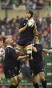 Twickenham, England, RFU Twickenham Stadium, Surrey, 10.12.2002.<br /> 2002 Varsity Rugby - Oxford vs Cambridge<br /> David Lubans    [Mandatory Credit:Peter SPURRIER/Intersport Images]