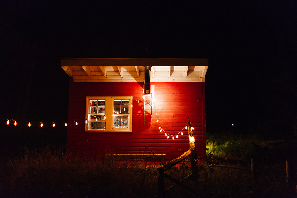Cabin at Night, Vinalhaven, Maine.
