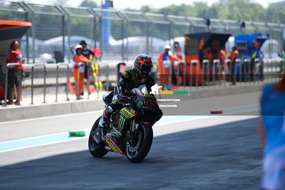 BURIRAM, THAILAND - OCTOBER 05: Hafizh Syahrin (55) of Malaysia and Monster Yamaha Tech 3 during FP1 at the MotoGP PTT Thailand Grand Prix 2018, Chang International Circuit, Thailand on October 05, 2018. <br /> .<br /> .<br /> .<br /> (Photo by: Naratip Golf Srisupab/SEALs Sports Images)<br /> .<br /> Any image use must include a mandatory credit line adjacent to the content which should read: Naratip Golf Srisupab/SEALs Sports Images