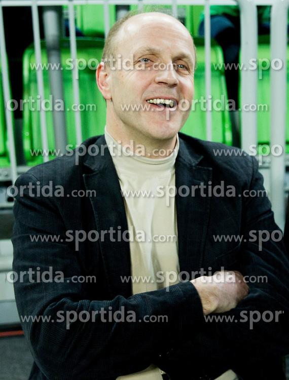 Dusan Hauptman during basketball match between KK Union Olimpija Ljubljana and Hapoel Migdal Jerusalem (ISR) in 1st Round of EuroCup LAST 32 2013/14 on January 08, 2014 in Arena Stozice, Ljubljana, Slovenia. Photo by Vid Ponikvar / Sportida