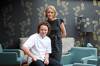 Picture by Chris Watt.  07887 554 193...Commission May0015668 Assigned..Tom and Michaela Kitchin at their restaurant in Edinburgh