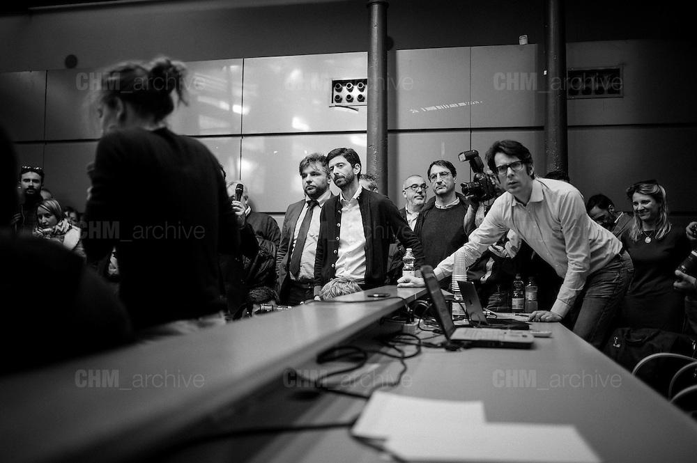 Roberto Speranza (C) during the presentation of the new left party 'Democratici e Progressisti' born from the split of the 'Democratic Party' and 'Italian Left'. Rome, 25 February 2017. Christian Mantuano / OneShot