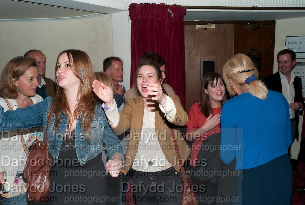 MARINA BYE; MADDY BYE; Press night for Ruby Wax- Losing it. Duchess theatre. London. 1 September 2011. <br /> <br />  , -DO NOT ARCHIVE-© Copyright Photograph by Dafydd Jones. 248 Clapham Rd. London SW9 0PZ. Tel 0207 820 0771. www.dafjones.com.