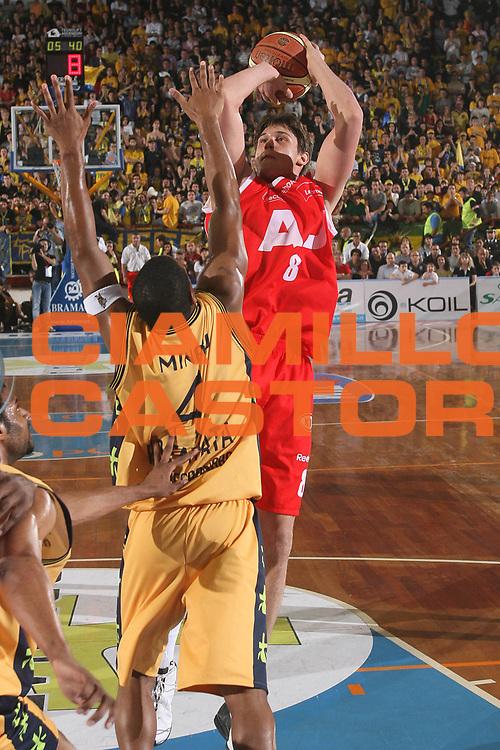 DESCRIZIONE : Porto San Giorgio Lega A1 2007-08 Playoff Quarti Di Finale Gara 5 Premiata Montegranaro Armani Jeans Milano<br /> GIOCATORE : Danilo Gallinari <br /> SQUADRA : Armani Jeans Milano<br /> EVENTO : Campionato Lega A1 2007-2008 <br /> GARA : Premiata Montegranaro Armani Jeans Milano<br /> DATA : 18/05/2008 <br /> CATEGORIA : Tiro<br /> SPORT : Pallacanestro <br /> AUTORE : Agenzia Ciamillo-Castoria/M.Marchi