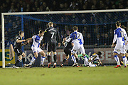 GOAL Ian Henderson scores for Rochdale during the EFL Sky Bet League 1 match between Bristol Rovers and Rochdale at the Memorial Stadium, Bristol, England on 13 February 2018. Picture by Daniel Youngs.