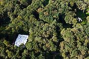 Nederland, Gelderland, Gemeente Ede, 03-10-2010; Nationaal Park De Hoge Veluwe, Museum Kroller-Muller. Beeldentuin met werk van Jean Dubuffet en Tom Claassen (rechts)..Sculpture garden Museum Kroller-Muller.luchtfoto (toeslag), aerial photo (additional fee required).foto/photo Siebe Swart