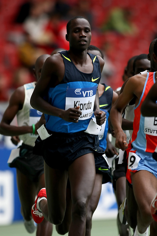 (Stuttgart, Germany---14 September 2008) Silas Kipruto of Kenya runs to seventh in the 5000m at the 2008 World Athletics Final. [Copyright Sean W. Burges/Mundo Sport Images, 2008.]