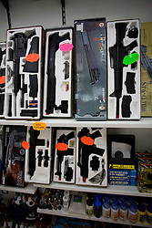 Pistols in a shop in San Marino, on October 13, 2009, in San Marino,  San Marino.  (Photo by Vid Ponikvar / Sportida)