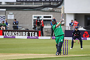 Paul Stirling of Ireland finds the boundary during the One Day International match between England and Ireland at the Brightside County Ground, Bristol, United Kingdom on 5 May 2017. Photo by Andrew Lewis.