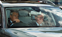 © London News Pictures. 05/05/2015. Prince Charles (right) arriving at Kensington Palace in London to visit  the royal baby, Princess of Cambridge. Photo credit: Ben Cawthra/LNP