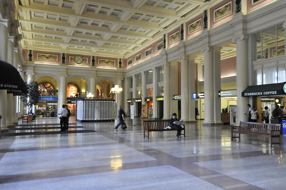 Waterfront Station is a major intermodal public transportation facility and the main transit terminus in Downtown Vancouver, British Columbia , Canada