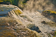 The Grass River as it plunges over at Pisew Falls<br />