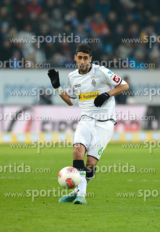 19.01.2013, Rhein Neckar Arena, Sinsheim, GER, 1. FBL, TSG 1899 Hoffenheim vs Borussia Moenchengladbach, 18. Runde, im Bild Tolga CIGERCI Borussia Mönchengladbach am Ball Aktion // during the German Bundesliga 18th round match between Bayer 04 Leverkusen and Eintracht Frankfurt at the BayArena, Leverkusen, Germany on 2013/01/19. EXPA Pictures © 2013, PhotoCredit: EXPA/ Eibner/ Weber..***** ATTENTION - OUT OF GER *****