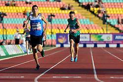 From left to right Yaroslav Okapinski, UKR, Paul Keogan, IRE, Michal Kotkowski, POL competing in the T37, 400m at the Berlin 2018 World Para Athletics European Championships