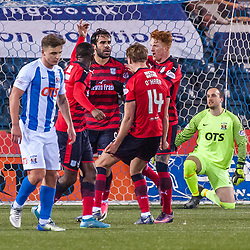 Dundee celebrations for 1-1 - Kilmarnock v Dundee - Ladbrokes Premiership - 13 February 2018 - © Russel Hutcheson | SportPix.org.uk