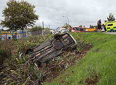 Tauranga-Minor injuries in car down bank, Greerton