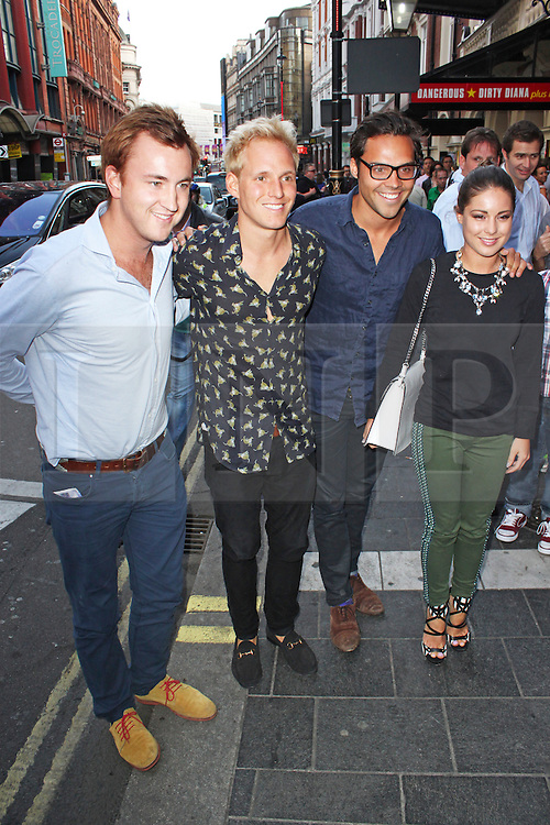 © Licensed to London News Pictures. 01/07/2013. London, UK. Francis Boulle, Jamie Laing, Andy Jordan & Louise Thompson at the A Curious Night at the Theatre - Gala Evening. Photo credit: Brett D. Cove/LNP