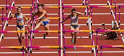 11-08-2017 IAAF World Championships Athletics day 8, London<br /> Nadine Visser plaatst zich vrij eenvoudig voor de halve finale 100 m horden