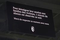 message minute de silence