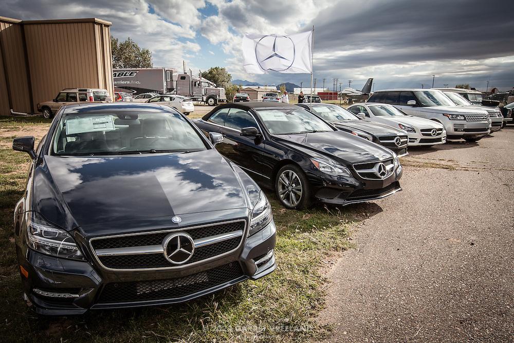 Sponsor Mercedes, Planes and Cars at the Santa Fe Airport, 2013 Santa Fe Concorso.