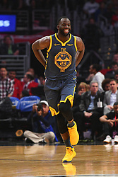 November 12, 2018 - Los Angeles, CA, U.S. - LOS ANGELES, CA - NOVEMBER 12: Golden State Warriors Forward Draymond Green (23) smiles as he runs up the court during a NBA game between the Golden State Warriors and the Los Angeles Clippers on November 12, 2018 at STAPLES Center in Los Angeles, CA. (Photo by Brian Rothmuller/Icon Sportswire) (Credit Image: © Brian Rothmuller/Icon SMI via ZUMA Press)