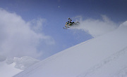 Rob Hoff in flight with a powdery contrail following in his wake