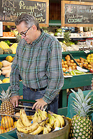 Mature man shopping in farmer's market