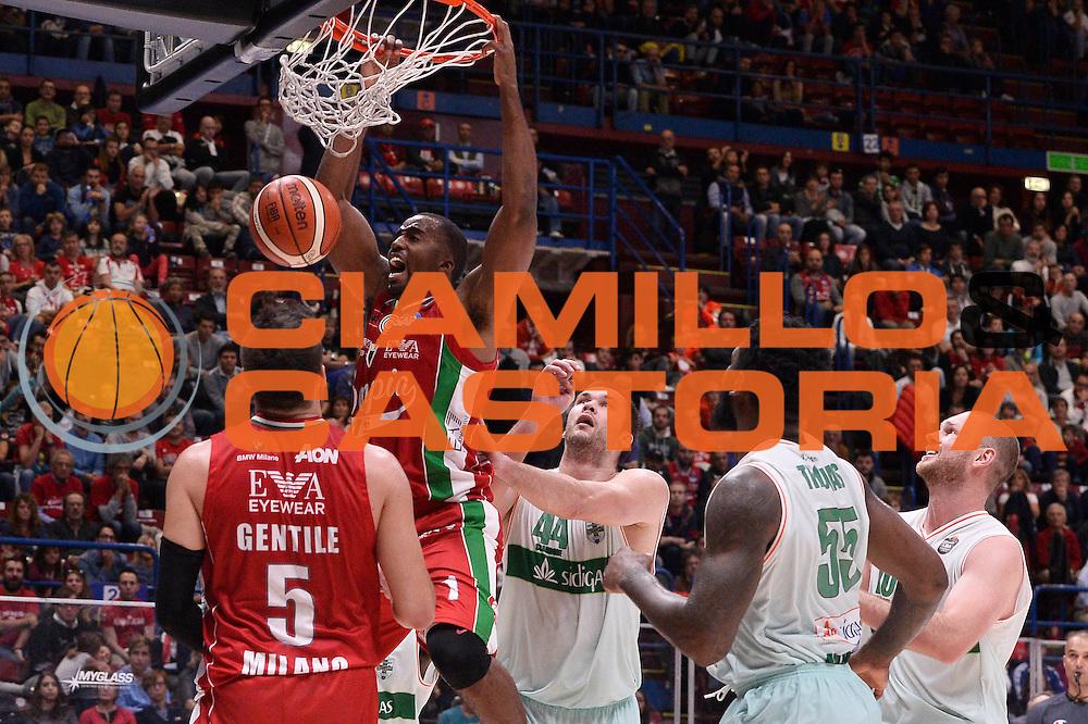 McLean Jamel<br /> EA7 Emporio Armani Olimpia Milano - Sidigas Avellino<br /> LegaBasket 2016/2017<br /> Milano 09/10/2016<br /> Foto Ciamillo-Castoria