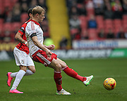 Jay McEveley (Sheffield United) during the Sky Bet League 1 match between Sheffield Utd and Coventry City at Bramall Lane, Sheffield, England on 13 December 2015. Photo by Mark P Doherty.