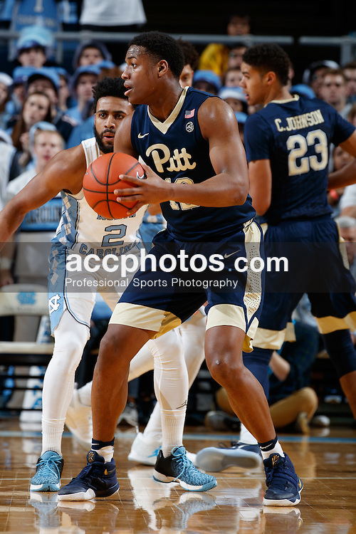 CHAPEL HILL, NC - JANUARY 31: Chris Jones #12 of the Pittsburgh Panthers plays against the North Carolina Tar Heels on January 31, 2017 at the Dean Smith Center in Chapel Hill, North Carolina. North Carolina won 80-78. (Photo by Peyton Williams/UNC/Getty Images) *** Local Caption *** Chris Jones