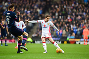 Milton Keynes Dons midfielder Peter Pawlett (11) shoots at goal during the EFL Sky Bet League 1 match between Milton Keynes Dons and Portsmouth at stadium:mk, Milton Keynes, England on 10 February 2018. Picture by Dennis Goodwin.
