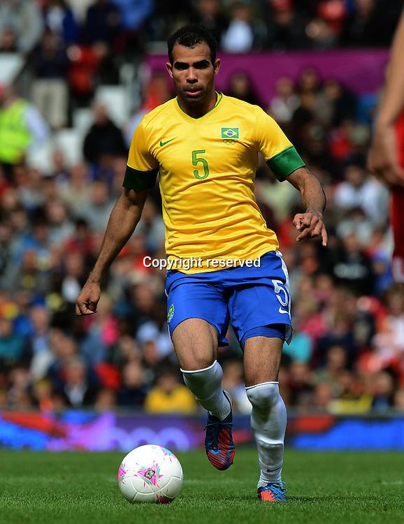 29.07.2012. London England, 2012 Olympic Games mens football. Preliminary group game Brazil versus Belarus.    Sandro Brazil