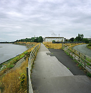 A chemical plant at Widnes next to the river Mersey in Cheshire. The Mersey is a river in north west England which stretches for 70 miles (112 km) from Stockport, Greater Manchester, ending at Liverpool Bay, Merseyside. For centuries, it formed part of the ancient county divide between Lancashire and Cheshire.