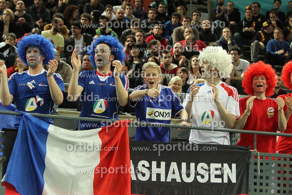 18.01.2013 Barcelona, Spain. IHF men's world championship, prelimanary round. Picture show france suporters  in action during game between France vs Germany at Palau St Jordi / Sportida Photo Agency