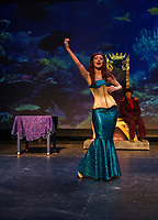 The Little Mermaid in the traditional English panto style dress rehearsal at the Winnipesaukee Playhouse.  Karen Bobotas for the Laconia Daily Sun.