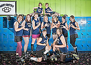 Hard Knocks flat track roller derby team.