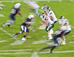 12.07.2011, Tivoli Stadion, Innsbruck, AUT, American Football WM 2011, Group A, United States of America (USA) vs Mexico (MEX), im Bild Feature Wischer Football // during the American Football World Championship 2011 Group A game, USA vs Mexico, at Tivoli Stadion, Innsbruck, 2011-07-12, EXPA Pictures © 2011, PhotoCredit: EXPA/ J. Feichter