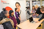 Her Royal Highness meets the team developing a website (www.centre-adolsecent-rheumatology.org) and phone app.The Duchess of Cornwall, Patron, Arthritis Research UK, visits and meets patients of the Adolescent Inpatient Unit at University College London Hospitals.  •	Her Royal Highness then tours a laboratory at the Arthritis Research UK Centre for Adolescent Rheumatology and meeting researchers and supporters. London 12 Feb 2015.