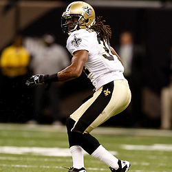August 21, 2010; New Orleans, LA, USA; New Orleans Saints cornerback Patrick Robinson (34) during a 38-20 win by the New Orleans Saints over the Houston Texans during a preseason game at the Louisiana Superdome. Mandatory Credit: Derick E. Hingle
