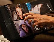 Ellen Hensley, mother of the slain Jerrica Christensen, points to her daughter in a photo album in her Leeds home, Thursday, Dec. 6, 2012.