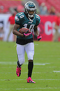 Philadelphia Eagles wide receiver DeSean Jackson (10) during the Eagles 31-20 win over the Tampa Bay Buccaneers on Oct. 13, 2013 in Tampa, Florida. <br /> <br /> ©2013 Scott A. Miller